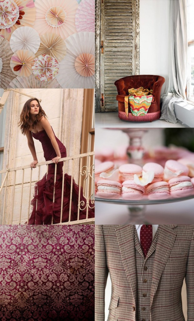 Maroon and Pink {Inspiration Board}