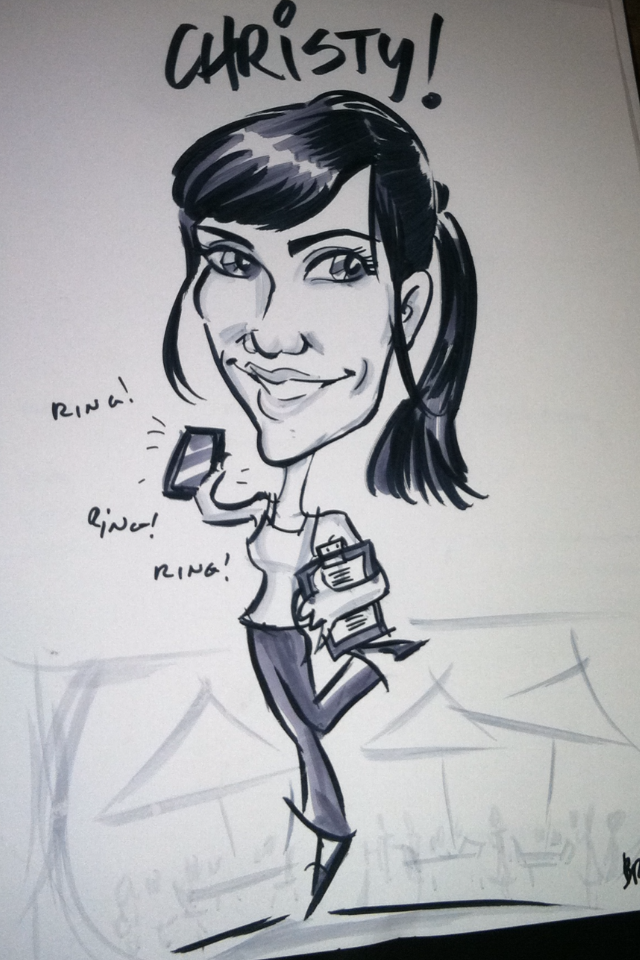 Awesome Favor: Caricature Art!
