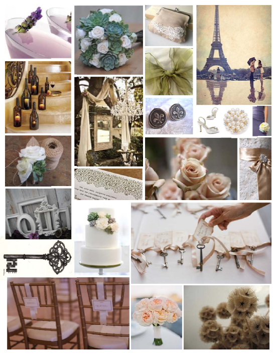 Wedding Vision Process: Inspired by Paris, Romance